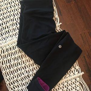Lululemon reversible black and pink leggings
